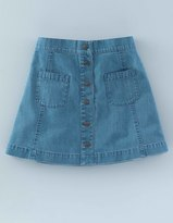Boden Button Front Skirt