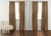 "Ethan Allen 90"" Cafe Taffeta Stripe Inverted Pleat Panel"