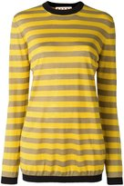 Marni striped crew neck jumper - women - Silk/Linen/Flax/Polyamide - 40