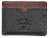 Herschel Men's Charlie Pebble Leather Card Case - Black