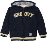 Petit Lem Groovy Hooded Knit Sweatshirt, Navy, Size 5-6XT