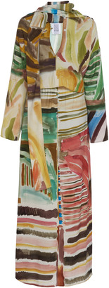 Rosie Assoulin Multicolor Scarf-Accented Twill Dress
