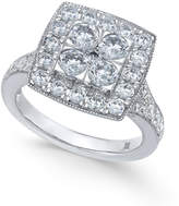 Macy's Diamond Square Halo Composite Engagement Ring (2 ct. t.w.) in 14k White Gold
