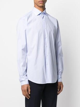 Glanshirt French Collar Checked Shirt