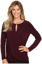 Ivanka Trump Long Sleeve Beaded Matte Jersey