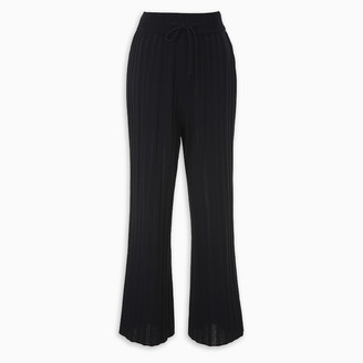 LE 17 SEPTEMBRE Blue ribbed-knit trousers