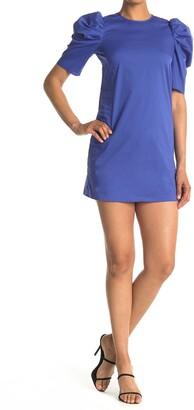 Cinq à Sept Erin Puff Shoulder Sleeve Back Button Dress