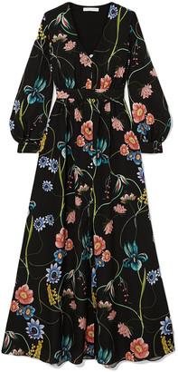 Borgo de Nor Francesca Floral-print Crepe De Chine Maxi Dress