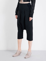 Rick Owens Cropped stretch-wool trousers