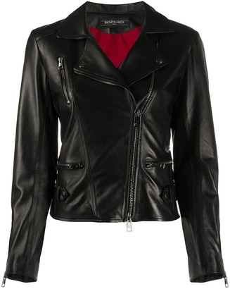 Simonetta Ravizza Fitted Biker Jacket