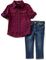 7 For All Mankind Little Boys 2T-7 Button-Down Long-Sleeve Shirt & Jeans Set