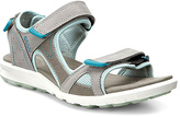 Ecco Warm Gray & Ice Flower Cruise Nubuck Sandal - Women