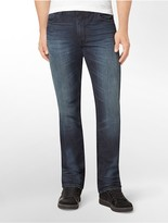 Calvin Klein Straight-Leg Exploded Blue Wash Jeans