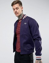 Fred Perry Reissues Tipped Varsity Bomber Jacket In Navy