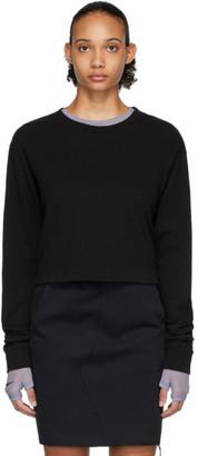 John Elliott Black Jersey Cropped T-Shirt