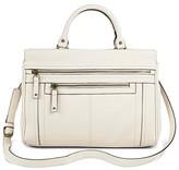 Merona Women's Solid Satchel Faux Leather Handbag with Zipper Pockets