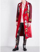 Gucci Embroidered Woven Kimono Coat