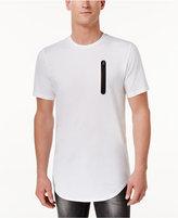 INC International Concepts Men's Long Length Contrast Zipper T-Shirt, Created for Macy's