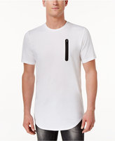INC International Concepts Men's Long Length Contrast Zipper T-Shirt, Only at Macy's
