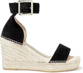 Iris & Ink Senna Suede Espadrille Wedge Sandals