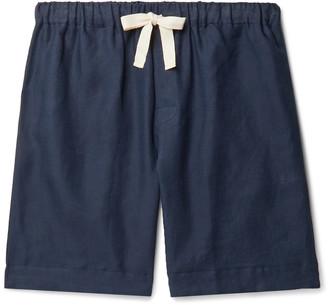 Desmond & Dempsey Printed Organic Cotton Pyjama Shorts