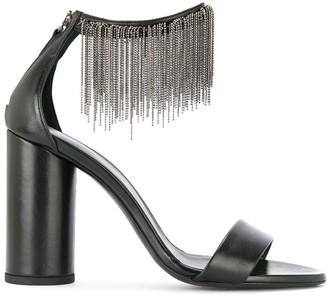Fabiana Filippi beaded fringed detail sandals