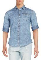 CK Calvin Klein Regular-Fit Quadrant Check Sportshirt