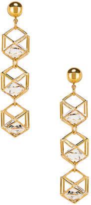 LARUICCI Caged Gem Earrings
