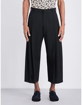 Mcq Alexander Mcqueen Straight Cropped Wool Trousers