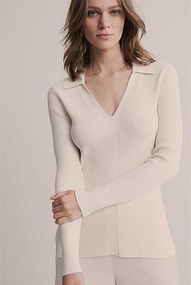 Witchery Collar V Neck Knit