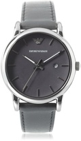 Giorgio Armani Emporio Men's AR1730 Classic Stainless Steel/Leather Strap Watch
