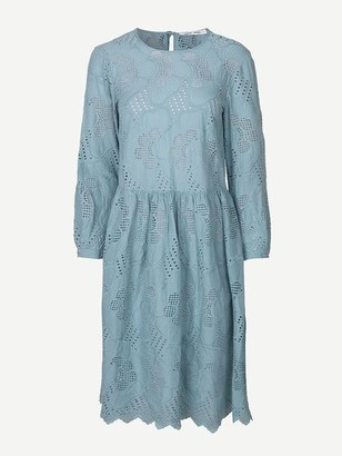 Samsoe & Samsoe Junia Long Sleeve Cutwork Dress Tourmaline - XS