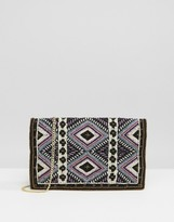 Pieces Beaded Clutch Bag With Crossbody Strap