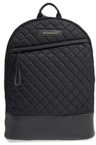 WANT Les Essentiels Men's 'Kastrup' Quilted Nylon & Leather Backpack - Black