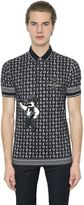 Dolce & Gabbana Cowboy Patch Printed Cotton Piqué Polo