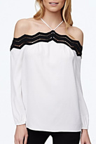 Ramy Brook White Off-Shoulder Blouse