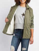 Charlotte Russe Sherpa Lined Anorak Jacket