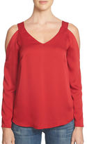 1 STATE Cold-Shoulder V-Neck Blouse