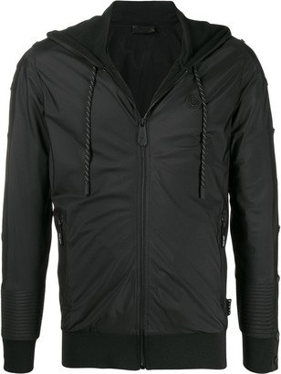 Philipp Plein Logo Print Sweat Jacket