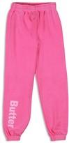 Butter Shoes Girls' Fleece Logo Sweatpants - Sizes S-XL