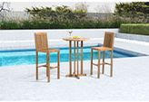 ZUO Trimaran Outdoor Bar Table with Natural Finish