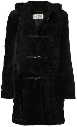 Saint Laurent Long Coat In Leather