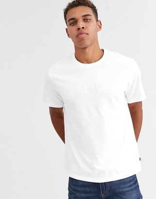Levi's embroidered tonal babytab logo relaxed fit t-shirt in white
