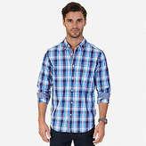 Nautica Wrinkle Resistant Long Sleeve Plaid Button Down Shirt