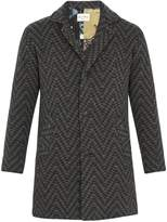 Etro Jacquard-knit wool coat
