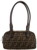 Fendi Leather-Trimmed Zucca Shoulder Bag