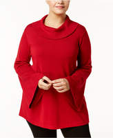 Alfani Plus Size Cowl-Neck Sweater, Created for Macy's