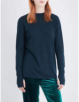 Dion Lee Open-back stretch-knit top