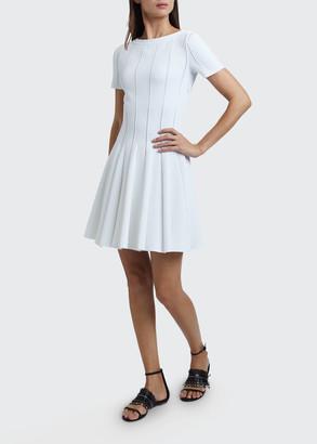 Alaia Mini Pleated Crepe Dress