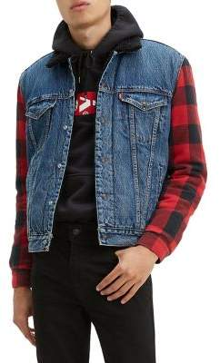 Levi's Faux Shearling Combo Denim Jacket